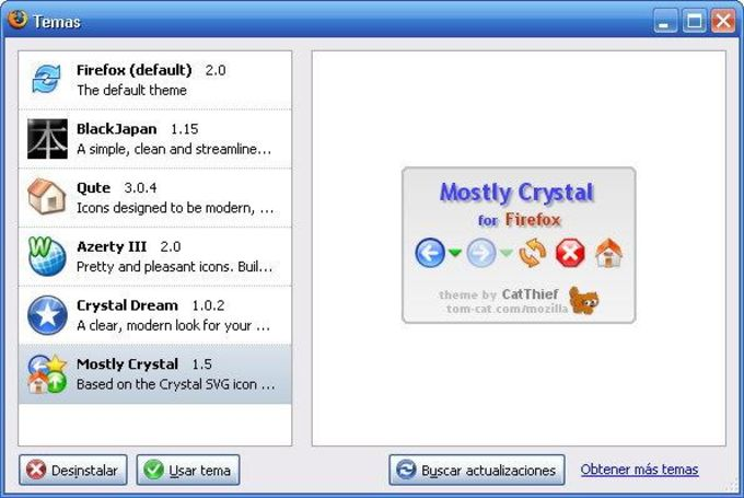 Mostly Crystal for Firefox
