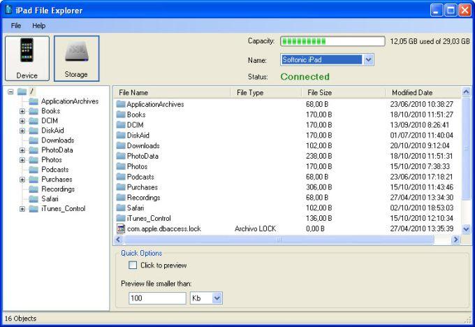 iPad File Explorer