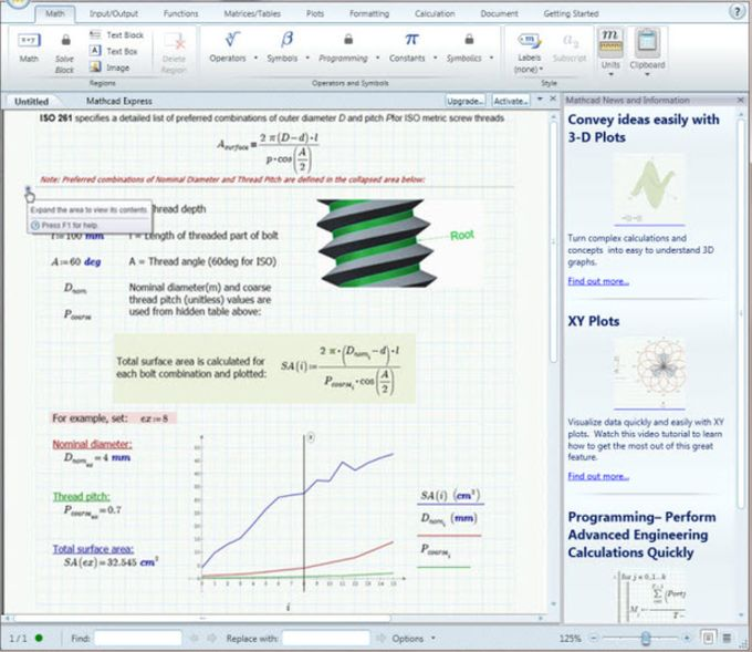 PTC Mathcad Express