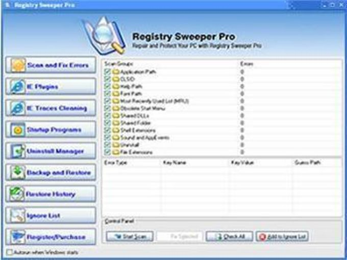 Registry Sweeper