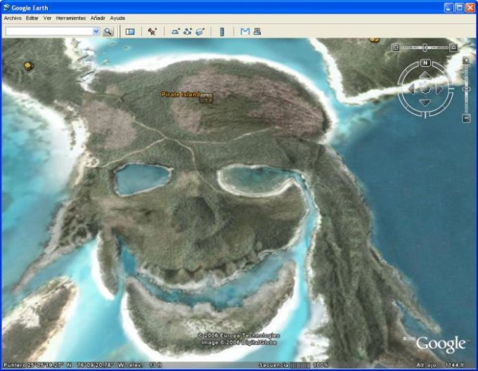 Piratas do Caribe no Google Earth
