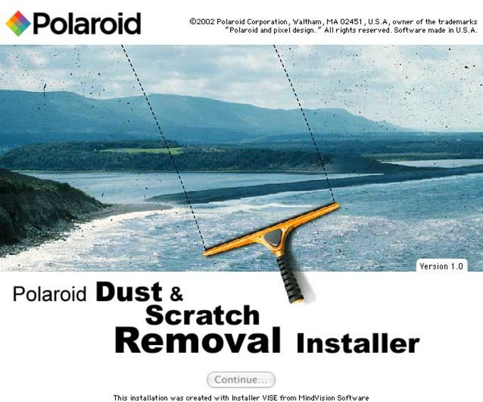 Polaroid Dust & Scratch Removal Software