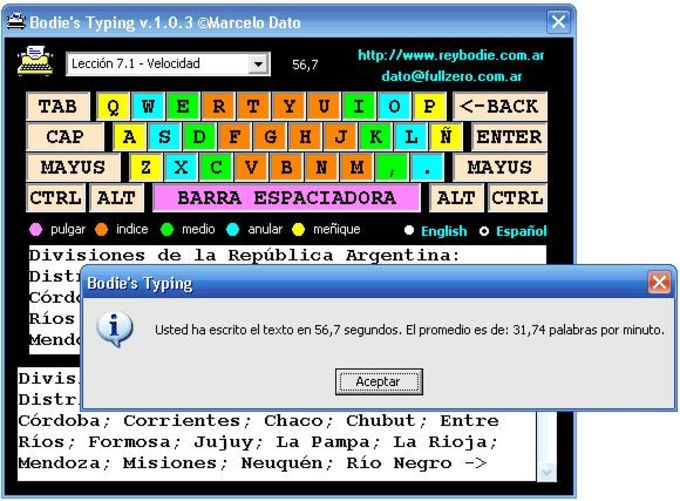 Bodie's Typing