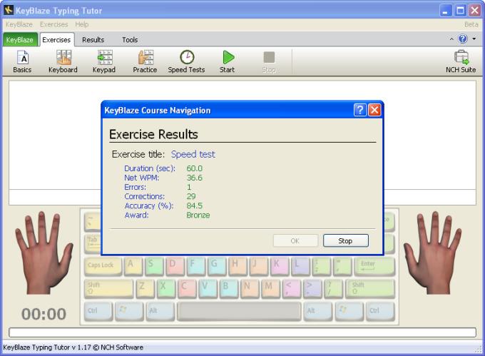 KeyBlaze Typing Tutor