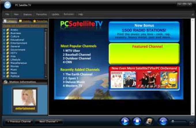 Satellite TV from PC