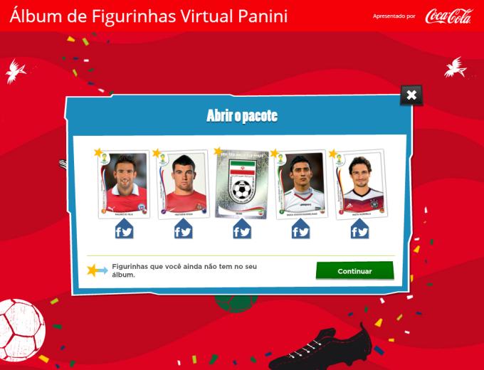 Álbum de Figurinhas Virtual Panini