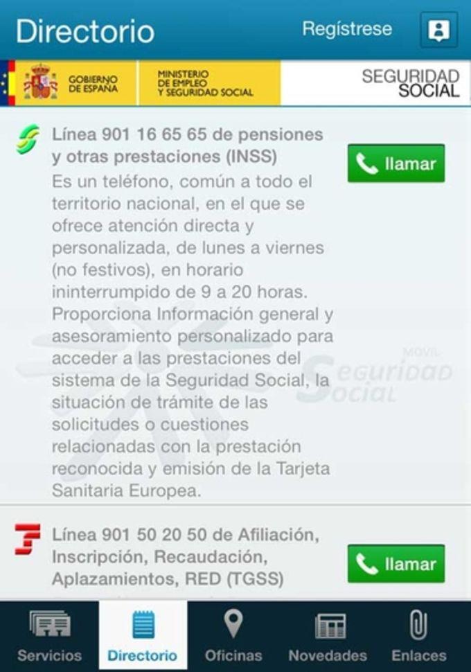Seg-Social Seguridad Social Móvil