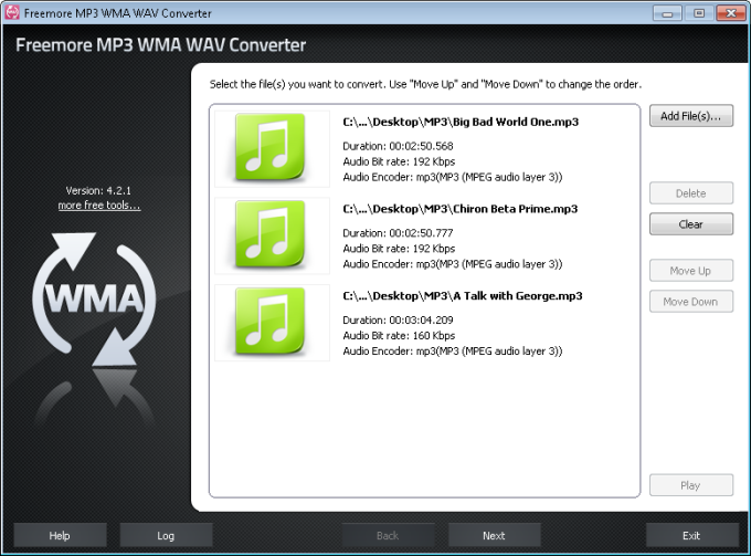 Freemore MP3 WMA WAV Converter