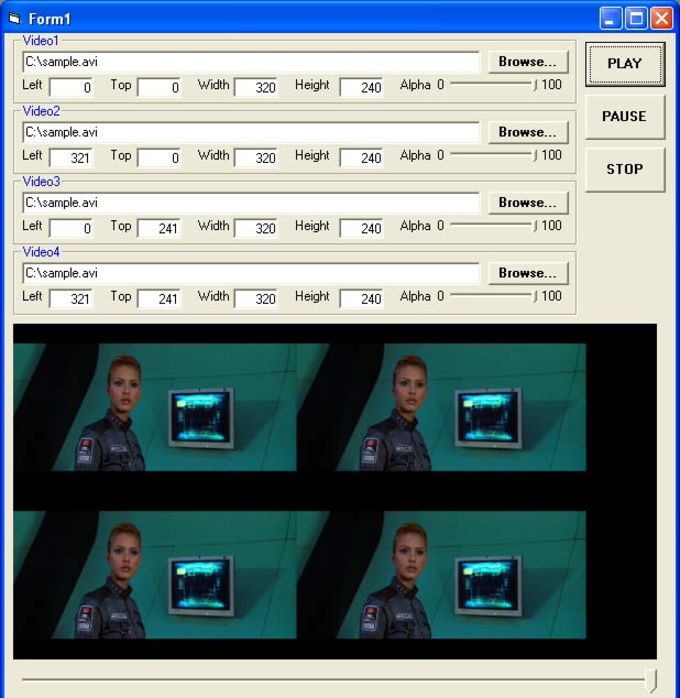 X360 Multiple Video Player ActiveX Control