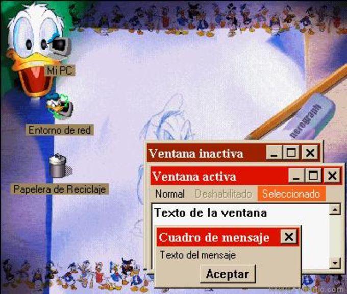 Donald Duck Desktop Theme