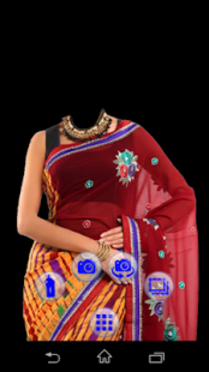 Women Saree Photo Making