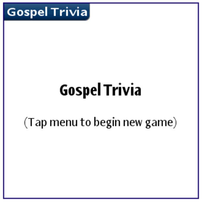Gospel Trivia