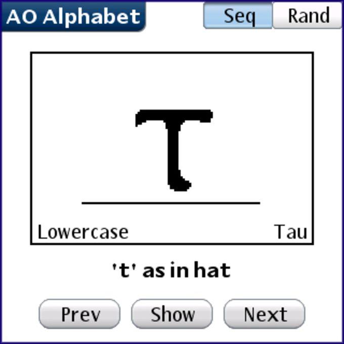 AO Alphabet