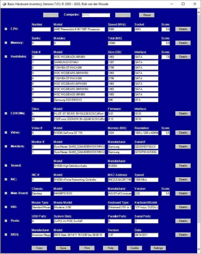Basic Hardware Monitor
