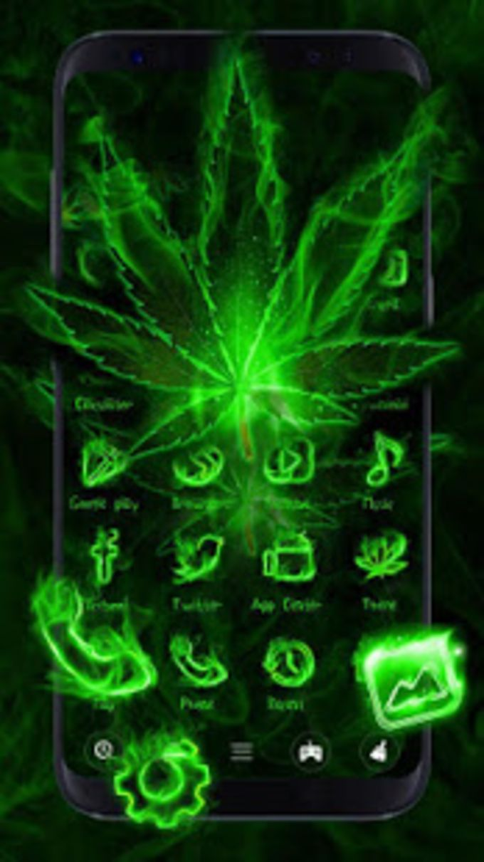 Fire Weed Rasta Themes HD Wallpapers 3D icons
