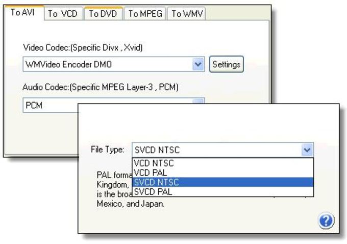 Easy AVI/VCD/DVD/MPEG Converter