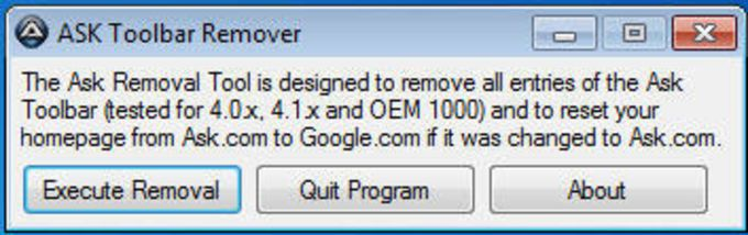 Ask Toolbar Remover