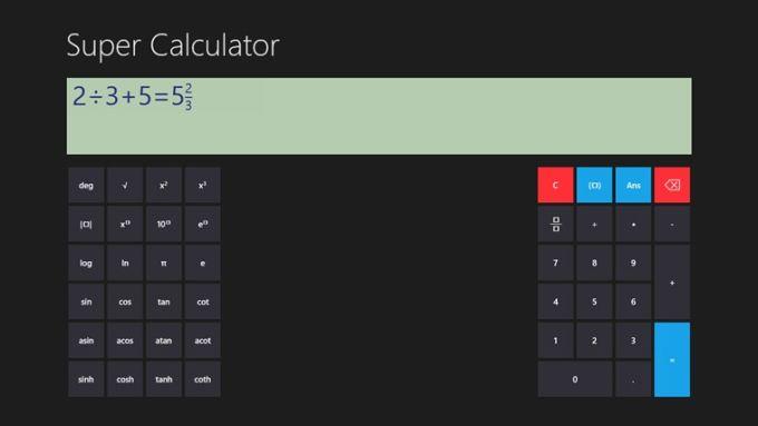 Super Calculator für Windows 10