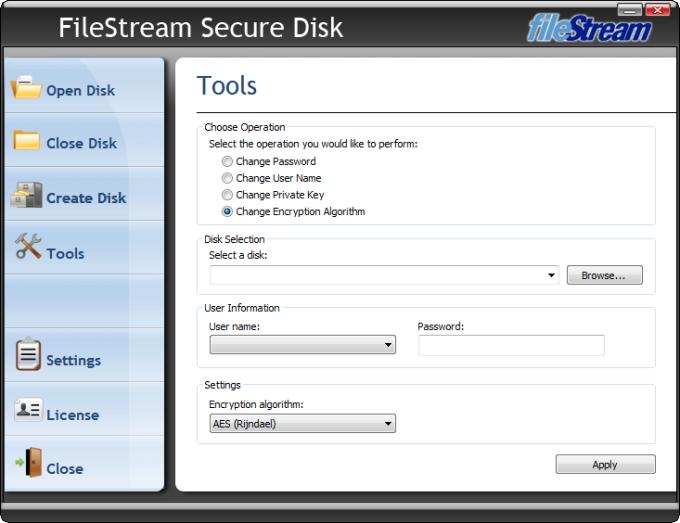 FileStream Secure Disk