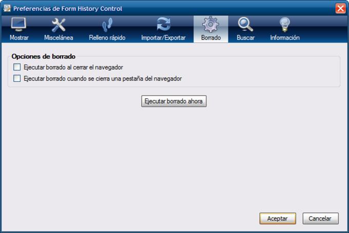 Form History Control