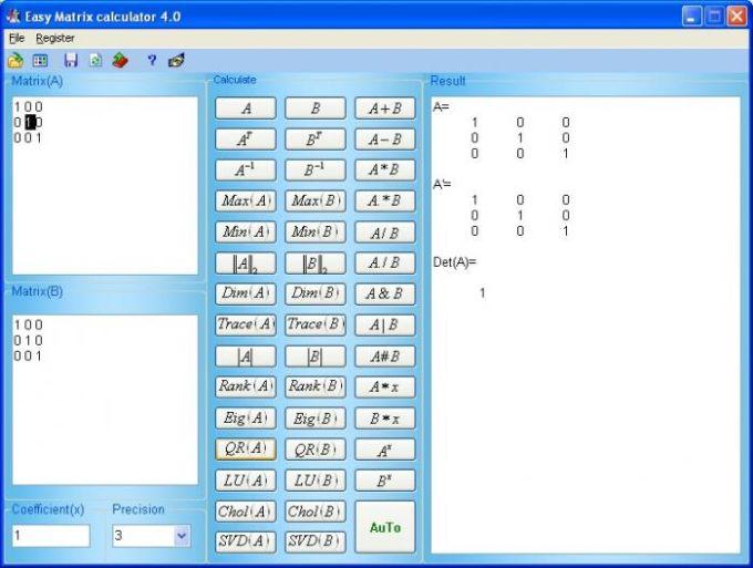 Luckhan Matrix Calculator