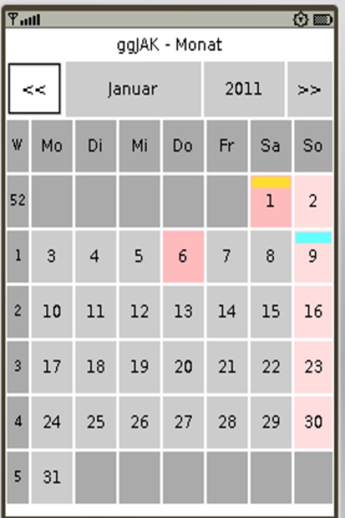 ggJAK Calendar