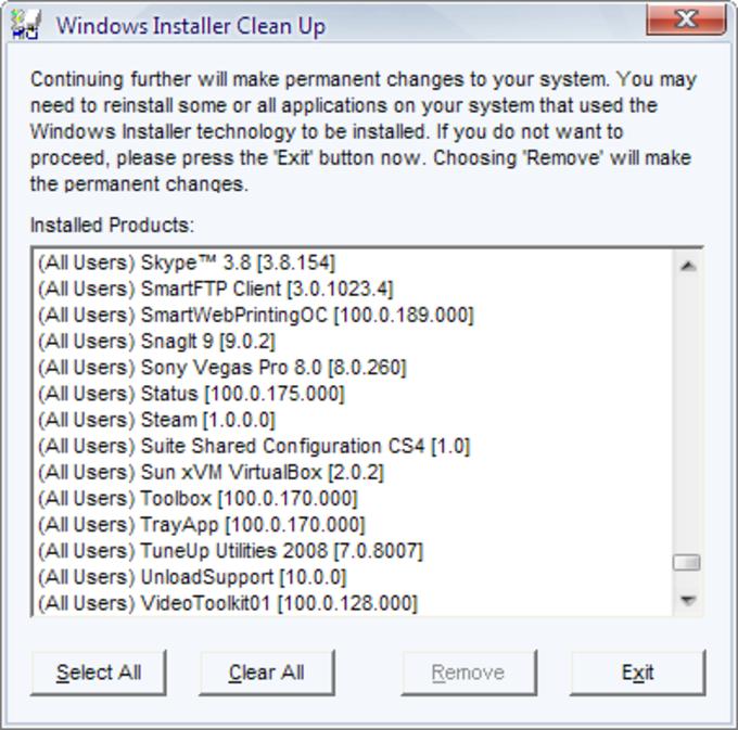 Windows Installer CleanUp