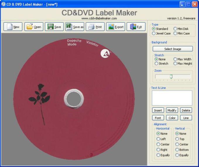 CD&DVD Label Maker