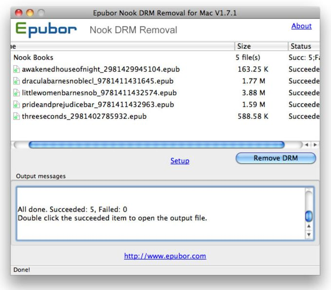 Nook DRM Removal for Mac
