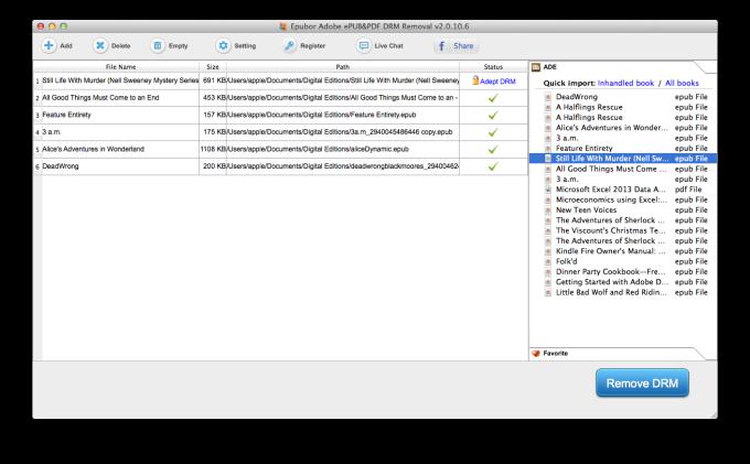 Adobe PDF ePUB DRM Removal for Mac