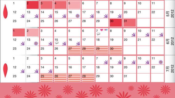 WomanLog カレンダー