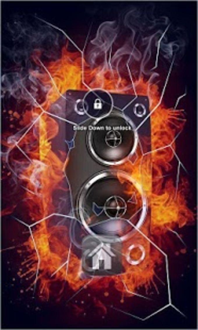 Fire Speakers Lock Screen