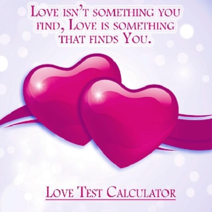 Love Test Calculator Find Love
