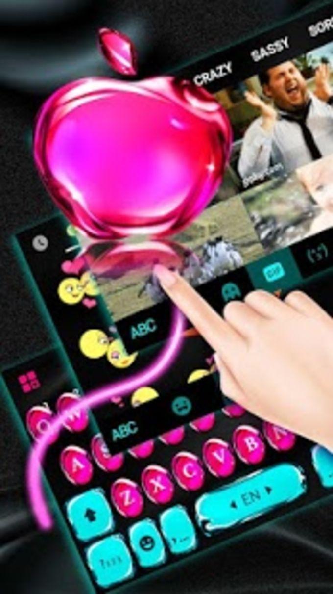 Os11 Glass Pink Apple Keyboard Theme