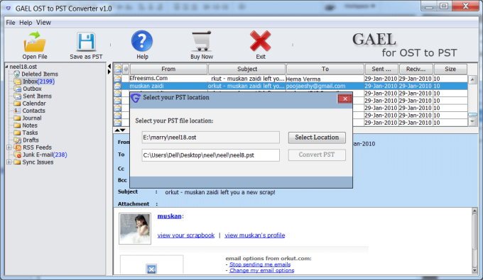 Microsoft OST to PST Converter Software