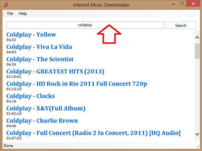 Internet Music Downloader