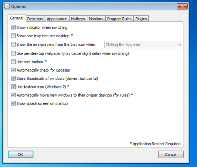 Finestra Virtual Desktops