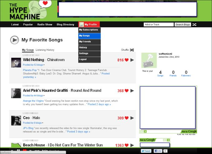 the hype machine online