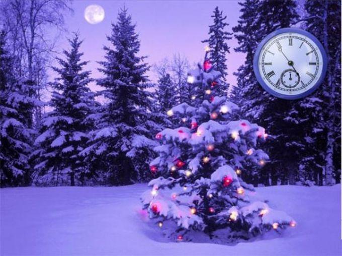 Christmas Clock ScreenSaver