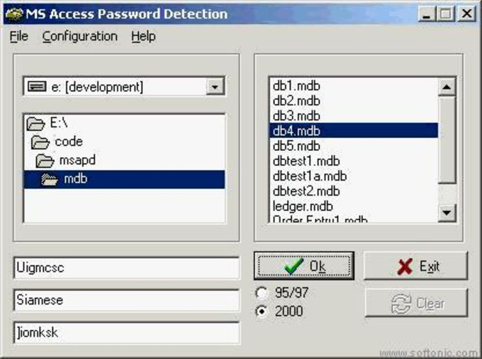 MS Access Password Detection