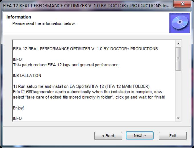 FIFA 12 Real Performance Optimizer
