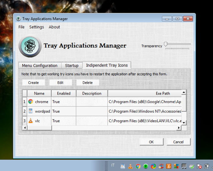 Tray Application Manager