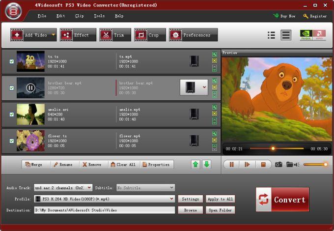 4Videosoft PS3 Video Converter