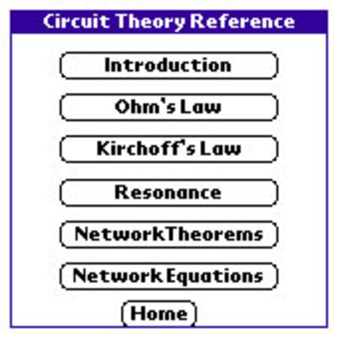 Circuit Theory Reference