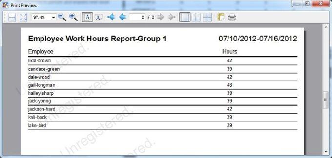 Auto Employee Schedule