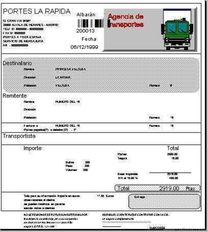 Agencia de transporte (carga fraccionada)