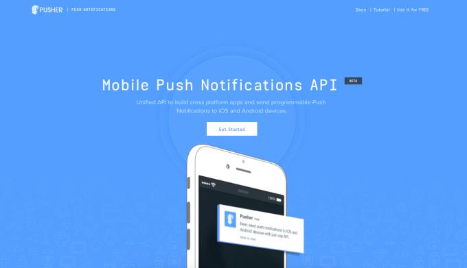 Pusher Mobile Push Notifications API