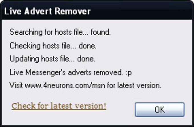 Live Advert Remover