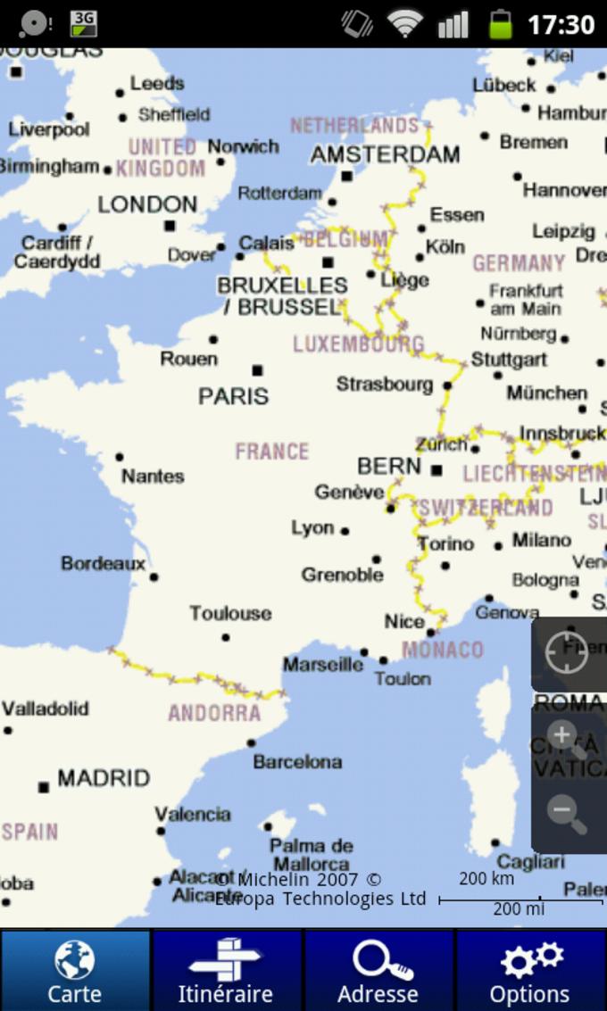 ViaMichelin: Ruta GPS Tráfico