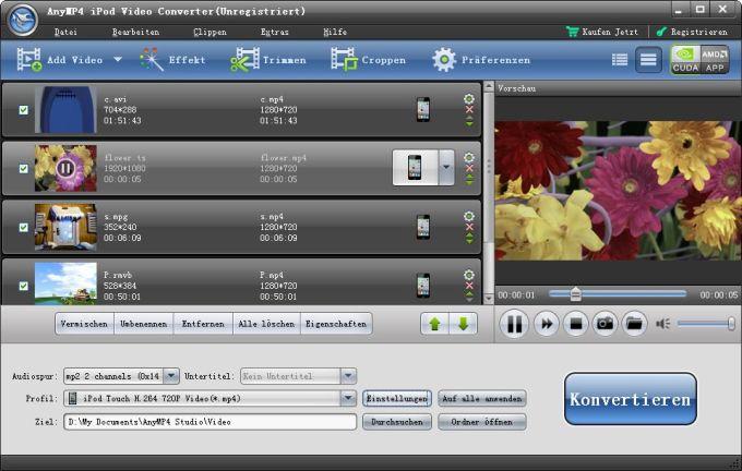 AnyMP4 iPod Video Konverter